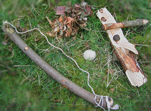 Bow-drill kit for making fire
