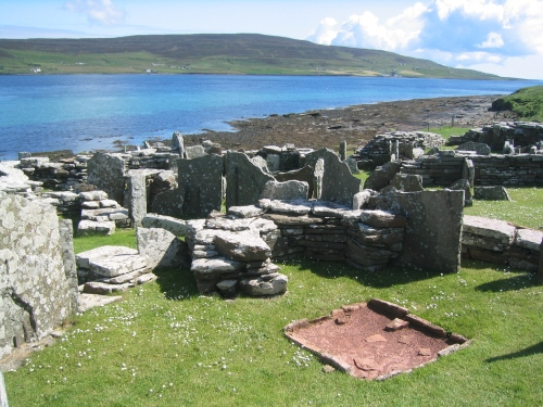 The Iron Age Broch of Gurness on Orkney, north Scotland