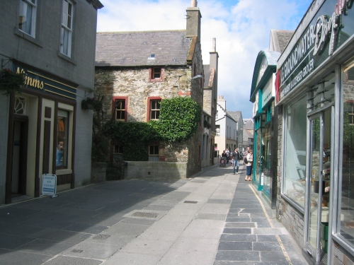 Kirkwall Main Street early, before the crowds