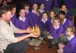 Teaching fire making and control