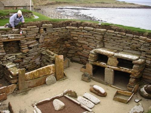 Skara Brae House in Neolithic Village, Orkney
