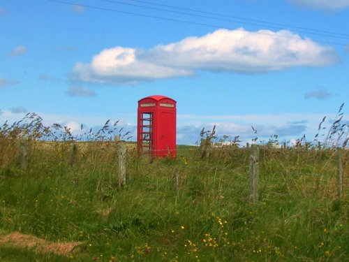 Red phone box orkny islands