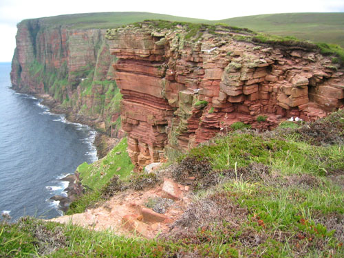 A beautiful walk along high cliffs of Hoy, Orkney Islands