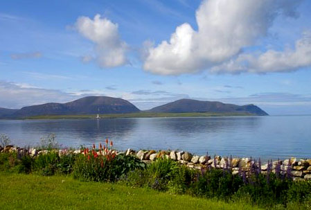 Island of Hoy in Orkney viewed from Mainland